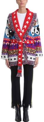 Alanui Psychedelic Mushrooms And Star Intarsia Cashmere-blend Cardigan Sweater