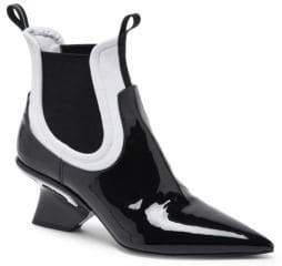Prada Patent Leather Point-Toe Booties