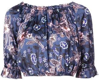 Jill Stuart floral print cropped top