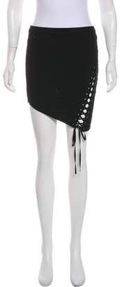 Mason Asymmetric Mini Pencil Skirt