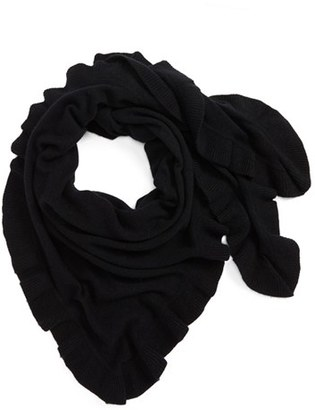 Women's Nordstrom Cashmere Ruffle Triangle Wrap $169 thestylecure.com