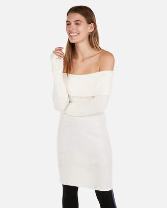 Express Off The Shoulder Sweater Dress