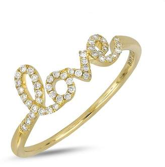 Bony Levy 18K Yellow Gold Diamond Accent Love Ring - 0.13 ctw