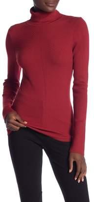 Vertigo Turtleneck Rib Knit Sweater