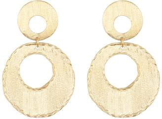 Rivka Friedman 18K Gold Clad Fire Edge Double Dangle Earrings