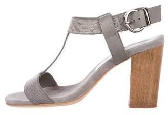 Lola Cruz Suede Mid-Heel Sandals