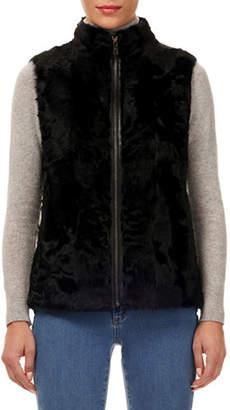 Gorski Lamb Shearling Zip-Front Vest