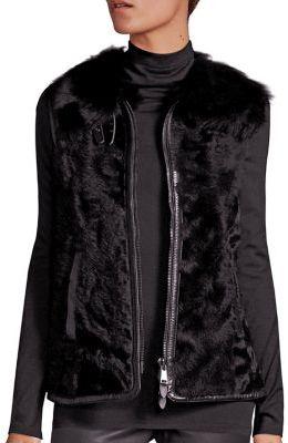 Polo Ralph Lauren Shearling Vest $1,498 thestylecure.com