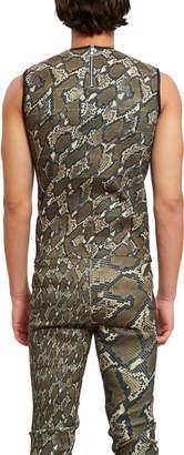 Stefan Cooke Simulation Snake Skin Vest