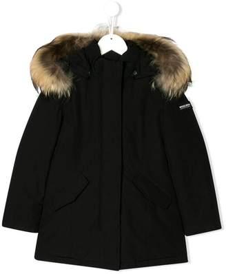 Woolrich Kids fur trimmed hooded parka