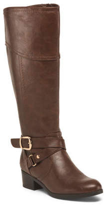 Wide Calf Ankle Wrap High Shaft Boots