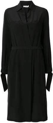 Vince slit back shirt dress