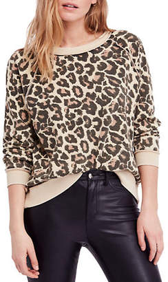 Free People Go On Get Printed Cotton Pullover