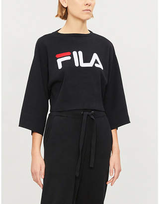 Fila Palmira logo-print stretch-cotton jumper