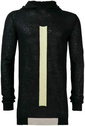 Rick Owens geo hooded colour-block jumper