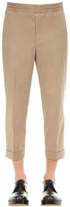 Neil Barrett Pleated Cotton Blend Trousers