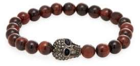 Swarovski Tigers-Eye & Crystal Beaded Bracelet