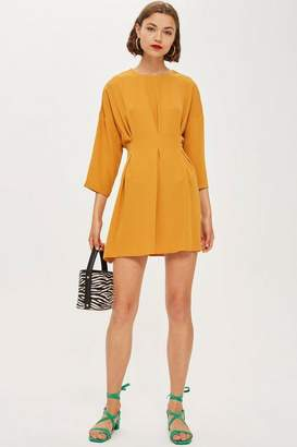 Topshop Tuck Seam Mini Dress