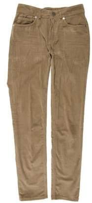 Loro Piana Mid-Rise Skinny Pants Khaki Mid-Rise Skinny Pants