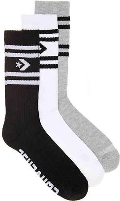 Converse Half Cushion Crew Socks - 3 Pack - Men's