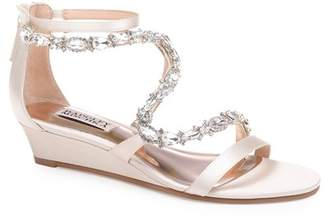 Badgley Mischka Sierra Embellished Wedge Sandal