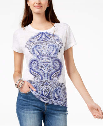 INC International Concepts I.n.c. Sequined Graphic T-Shirt, Created for Macy's