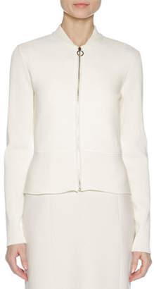 Agnona Ribbed Ottoman-Knit Jacket