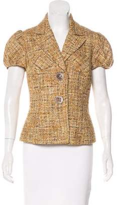 Trina Turk Tweed Short Sleeve Blazer