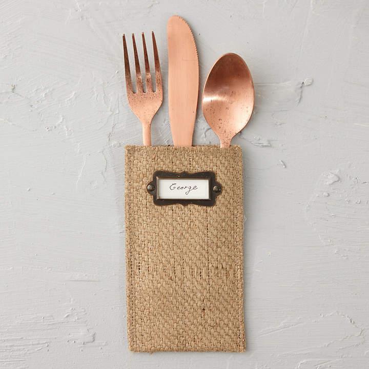 Jute Cutlery Pouch Set
