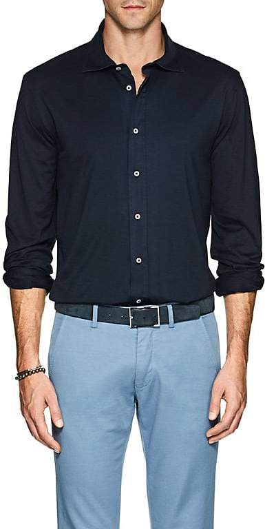 S.MORITZ Men's Cotton Jersey Shirt