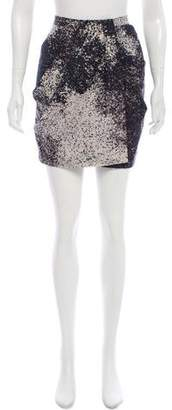Halston Silk & Wool-Blend Mini Skirt