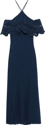 Bailey 44 Pudina Cold-shoulder Crochet-paneled Cotton-gauze Maxi Dress
