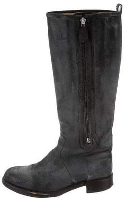 Hermes Distressed Knee-High Boots