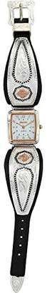 Montana Silversmiths Women's 'Prairie Blooms' Quartz Brass and Silver Plated Dress Watch(Model: WCH3097RGBK)