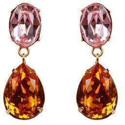 Jennifer Behr Gemma Pink 2 Drop Earrings