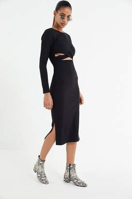 Urban Outfitters Cross-Front Cutout Bodycon Dress