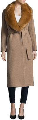 Helmut Lang Women's Faux Fur-Trimmed Wool Coat