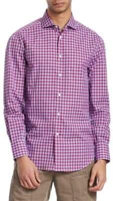 Brunello Cucinelli Plaid Button-Front Shirt