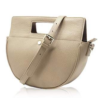Co The Lovely Tote Women's Genuine Leather Half Moon Crossbody Bag Cowhide Satchel Handbag