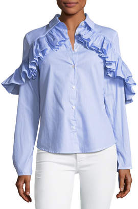 STYLEKEEPERS Gone Rogue Ruffled Shirt