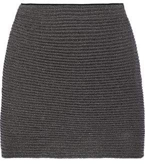 Missoni Metallic Ribbed-Knit Mini Skirt