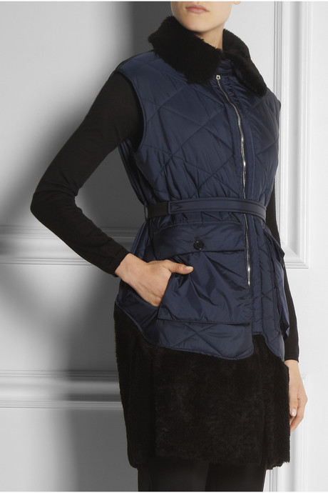 Marni Shearling-trimmed quilted gilet