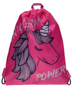 George Pink Unicorn Power Slogan Swim Bag