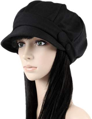 Ls Lady Octagonal Cap Beret Newsboy Cap Ray Limpets Winter Hat Womens  Cap 1530124523d