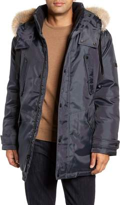 Andrew Marc Lafayette Genuine Fur Trim Hooded Parka