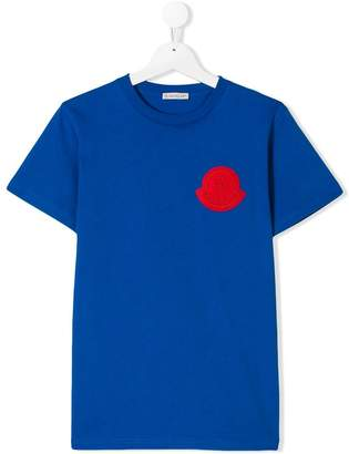 Moncler TEEN logo patch T-shirt