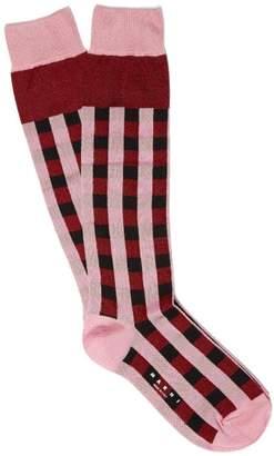 Marni Cubic Silk Blend Socks - Womens - Red Multi