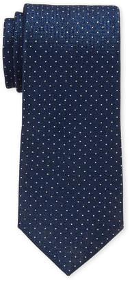 Perry Ellis Portfolio Navy Montrose Dot Silk Tie