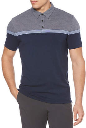 Perry Ellis Short-Sleeve Striped Polo