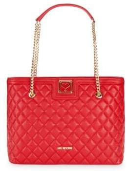 Love Moschino Quilted Chain Leather Tote